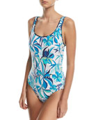Reversible Lace-Back One-Piece Swimsuit