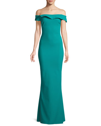 Zaina Off-the-Shoulder Mermaid Gown