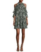 Hana Floral Cold-Shoulder Dress