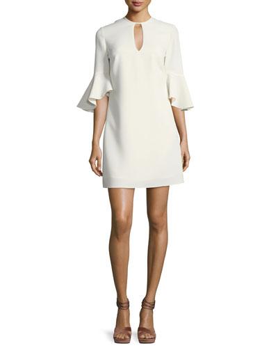 Casmaliia Trumpet-Sleeve Mini Dress