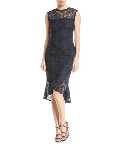 Reika Sleeveless High-Low Lace Dress