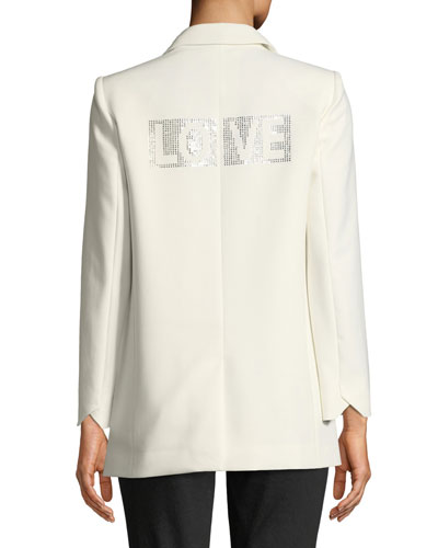 Viva Two-Button Embellished Blazer