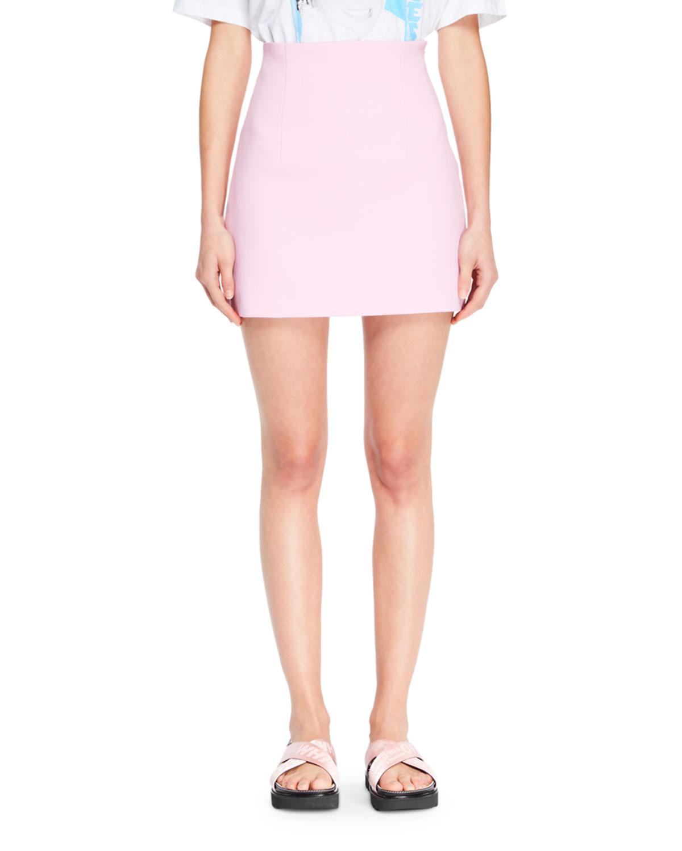 Straight Mini Skirt