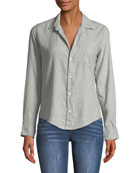 Barry Button-Front Long-Sleeve Cotton Shirt