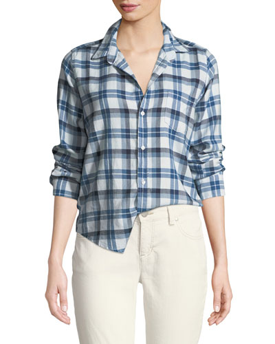 Barry Button-Front Check Cotton Shirt