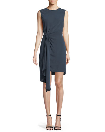 Rachael Side-Twist Sheath Dress