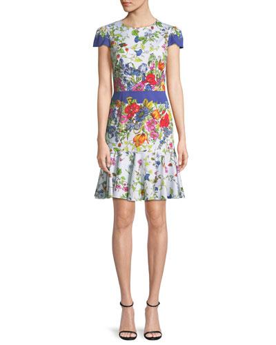 1b9d7d953fc Quick Look. Milly · Karissa Floral-Print Short-Sleeve Cotton Dress