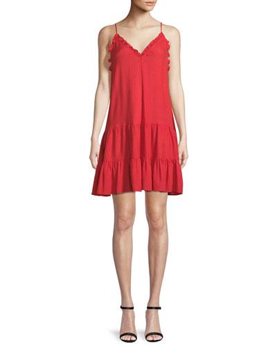 V-Neck Sleeveless Silk Slip Dress