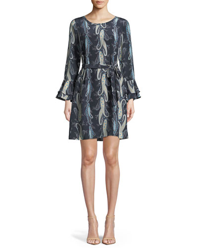 Kirsten Paisley-Print Shift Dress