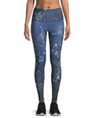 High-Rise Constellation-Print Full-Length Leggings