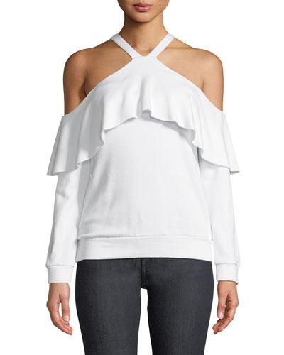 Window Shop Cold-Shoulder Knit Top