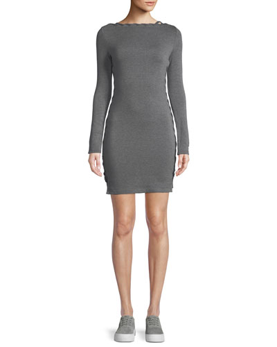 Lazy Day Long-Sleeve Body-Con Mini Dress