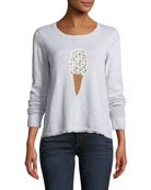 Lickety Split Ice Scream Intarsia Sweater, Plus Size