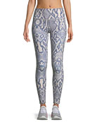 Bronson High-Waist 7/8 Snake-Print Leggings