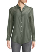 Essential Button-Front Egyptian-Cotton Shirt
