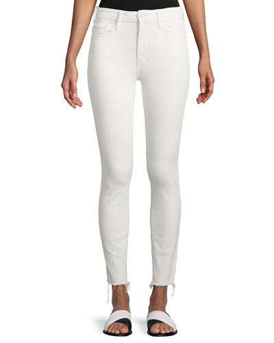 High-Waist Skinny-Leg Looker Ankle-Fray Jeans