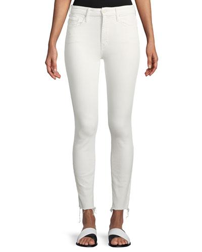 High-Waist Skinny-Leg Looker Ankle-Fray Jeans