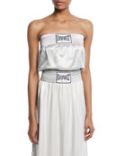 Strapless Boxing-Inspired Satin Top