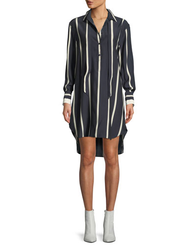 Arc Striped Silk Tunic