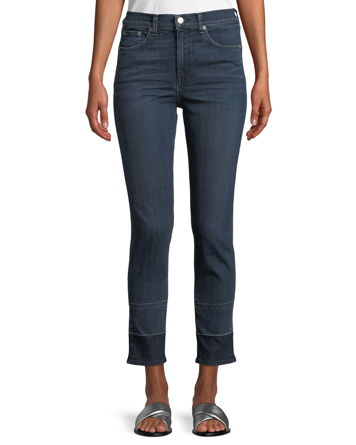High-Rise Ankle Skinny-Leg Jeans