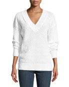 Kyra V-Neck Long-Sleeve Knit Sweater