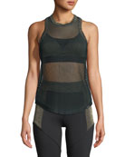 Prep Open Mesh Tank with Metallic Trim