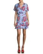 Natalie Floral Fit-and-Flare Dress