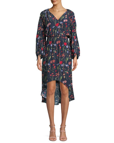 Xiomara Floral Hi-Low Dress