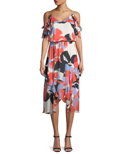 Kam Abstract-Print Silk Dress