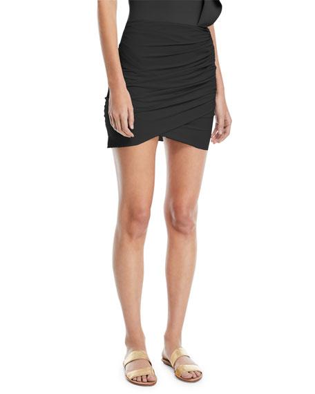 Chiara Boni La Petite Robe Ebby Fitted Ruched Mini Skirt Coverup