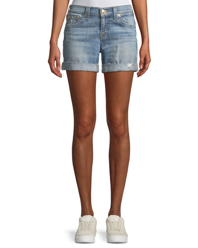 Jayde Mid-Rise Denim Shorts