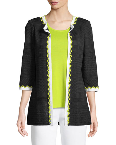 Chevron-Stitch Jacket
