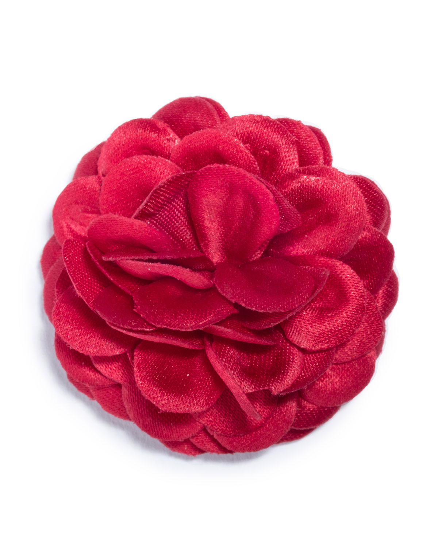 Satin Dahlia Lapel Flower