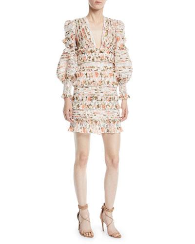 Radiate Smocked Floral Mini Dress