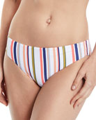 Line Up Retro Striped Hipster Swim Bikini Bottoms