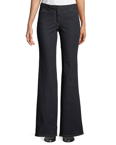Demitria 2 D Movement Dark-Wash Flare Stretch-Denim Jeans