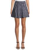 Abbey Striped Circular Mini Skirt