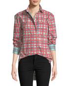 Saoirse Check Arm-Stripe Shirt