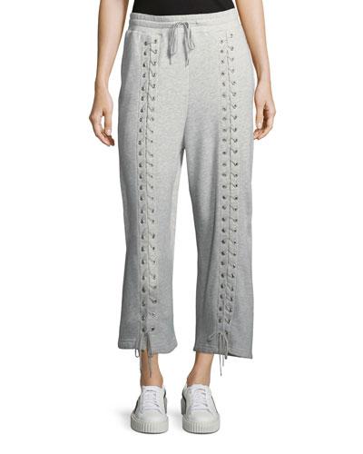 Lace-Up Drawstring Sweatpants