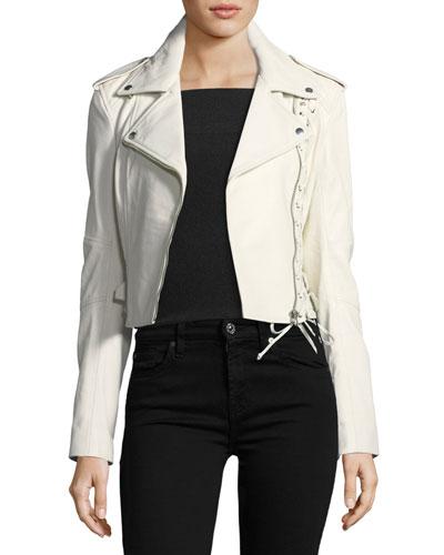 Jacket 59 Lace-Up Leather Jacket