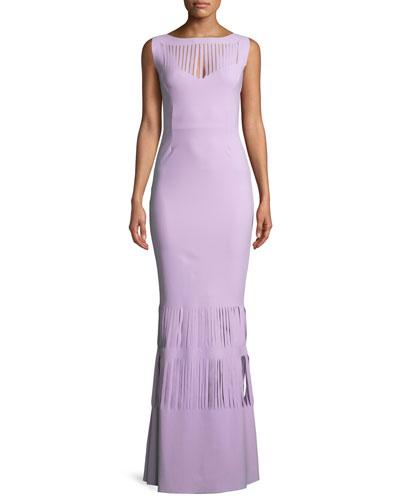 Renza Sleeveless Gown w/ Slit Details