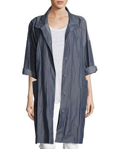 Textured Organic Cotton Steel Coat