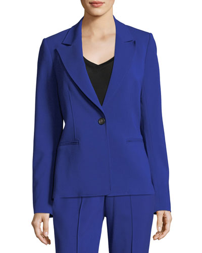 Duke One-Button Tailored Blazer Jacket