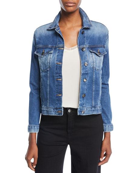 FRAME Button-Front Denim Jacket