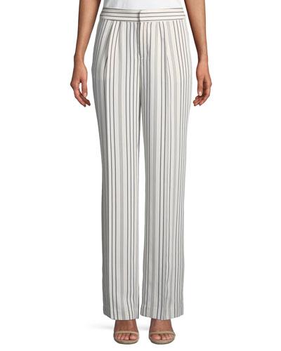 True Stripe Straight-Leg Pants