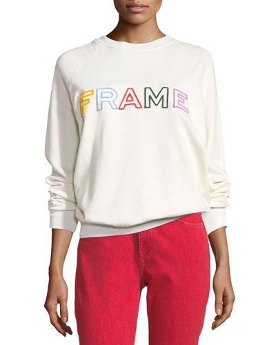 Logo Raglan Pullover Sweatshirt
