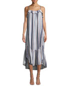 Rumer Sleeveless Striped Cotton Maxi Dress