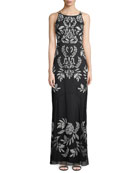Double-Strap Floor-Length Gown