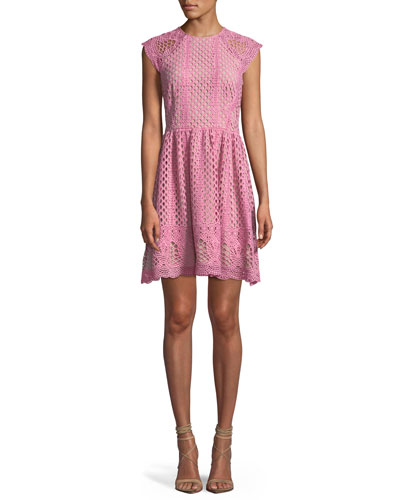 Mori Lace A-Line Mini Dress