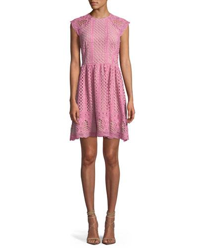 a6c83e54b34 Quick Look. Shoshanna · Mori Lace A-Line Mini Dress